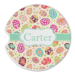 Easter Eggs Sandstone Car Coasters (Personalized)