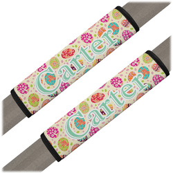 Easter Eggs Seat Belt Covers (Set of 2) (Personalized)