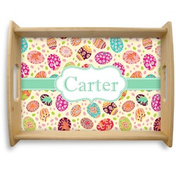 Easter Eggs Natural Wooden Tray - Large (Personalized)