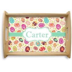 Easter Eggs Natural Wooden Tray (Personalized)
