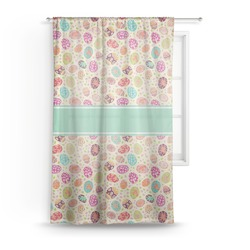 """Easter Eggs Sheer Curtain - 50""""x84"""" (Personalized)"""