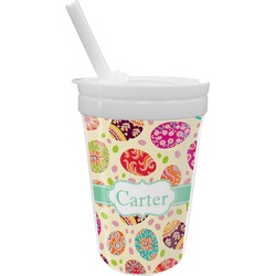 Easter Eggs Sippy Cup with Straw (Personalized)