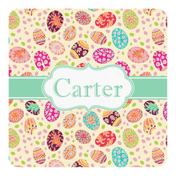 Easter Eggs Square Decal - Large (Personalized)