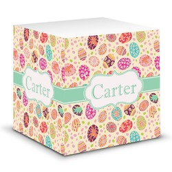 Easter Eggs Sticky Note Cube (Personalized)