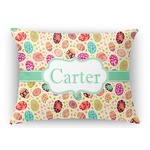 Easter Eggs Rectangular Throw Pillow Case (Personalized)