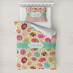 Easter Eggs Toddler Bedding w/ Name or Text