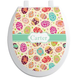 Easter Eggs Toilet Seat Decal (Personalized)