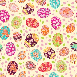 Easter Eggs Wallpaper & Surface Covering