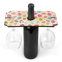 Easter Eggs Wine Bottle & Glass Holder (Personalized)