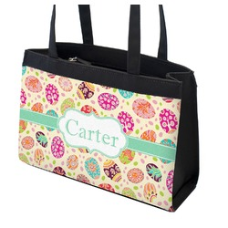 Easter Eggs Zippered Everyday Tote (Personalized)