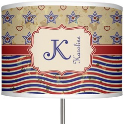 """Vintage Stars & Stripes 13"""" Drum Lamp Shade (Personalized)"""
