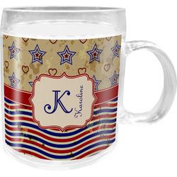 Vintage Stars & Stripes Acrylic Kids Mug (Personalized)