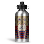 Vintage Stars & Stripes Water Bottle - Aluminum - 20 oz (Personalized)