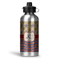 Vintage Stars & Stripes Water Bottle - Aluminum - 20 oz (Personalized)