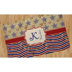 Vintage Stars & Stripes Area Rug (Personalized)