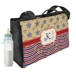 Vintage Stars & Stripes Diaper Bag w/ Name and Initial