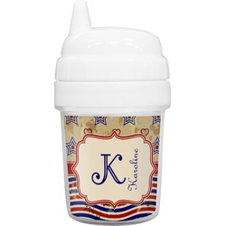 Vintage Stars & Stripes Baby Sippy Cup (Personalized)