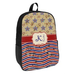 Vintage Stars & Stripes Kids Backpack (Personalized)