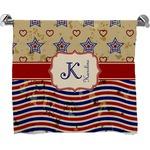 Vintage Stars & Stripes Bath Towel (Personalized)