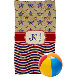 Vintage Stars & Stripes Beach Towel (Personalized)