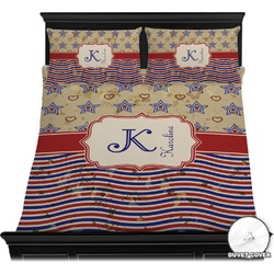 Vintage Stars & Stripes Duvet Cover Set (Personalized)