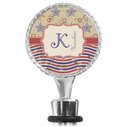 Vintage Stars & Stripes Wine Bottle Stopper (Personalized)
