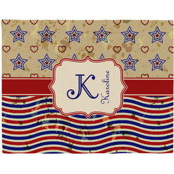 Vintage Stars & Stripes Placemat (Fabric) (Personalized)