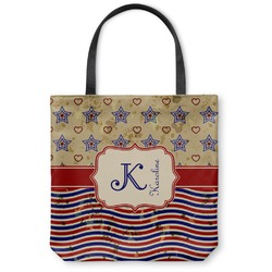 Vintage Stars & Stripes Canvas Tote Bag (Personalized)