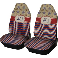 Vintage Stars & Stripes Car Seat Covers (Set of Two) (Personalized)