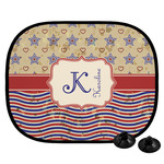Vintage Stars & Stripes Car Side Window Sun Shade (Personalized)