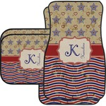 Vintage Stars & Stripes Car Floor Mats (Personalized)