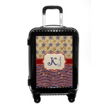 Vintage Stars & Stripes Carry On Hard Shell Suitcase (Personalized)
