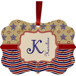 Vintage Stars & Stripes Ornament (Personalized)