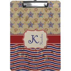 Vintage Stars & Stripes Clipboard (Personalized)