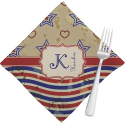 Vintage Stars & Stripes Napkins (Set of 4) (Personalized)