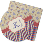 Vintage Stars & Stripes Rubber Backed Coaster (Personalized)