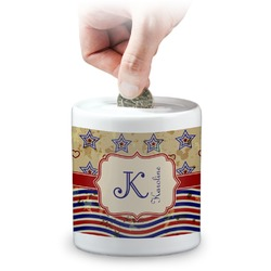 Vintage Stars & Stripes Coin Bank (Personalized)