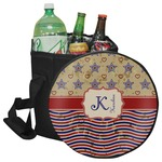 Vintage Stars & Stripes Collapsible Cooler & Seat (Personalized)