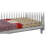 Vintage Stars & Stripes Crib Fitted Sheet (Personalized)