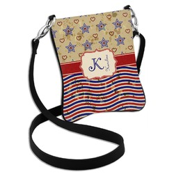 Vintage Stars & Stripes Cross Body Bag - 2 Sizes (Personalized)