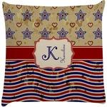 Vintage Stars & Stripes Decorative Pillow Case (Personalized)