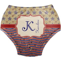 Vintage Stars & Stripes Diaper Cover (Personalized)