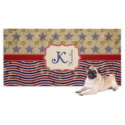 Vintage Stars & Stripes Pet Towel (Personalized)