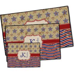 Vintage Stars & Stripes Door Mat (Personalized)