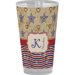 Vintage Stars & Stripes Drinking / Pint Glass (Personalized)