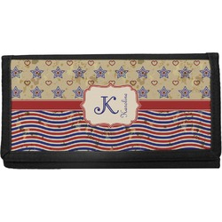 Vintage Stars & Stripes Canvas Checkbook Cover (Personalized)