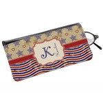Vintage Stars & Stripes Genuine Leather Eyeglass Case (Personalized)