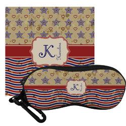 Vintage Stars & Stripes Eyeglass Case & Cloth (Personalized)