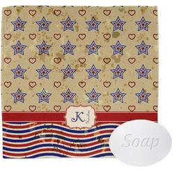 Vintage Stars & Stripes Wash Cloth (Personalized)