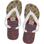 Vintage Stars & Stripes Flip Flops (Personalized)